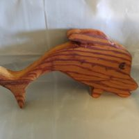 Woodworking art - fun dolphin