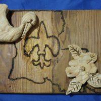 Woodworking art - Louisiana plaque