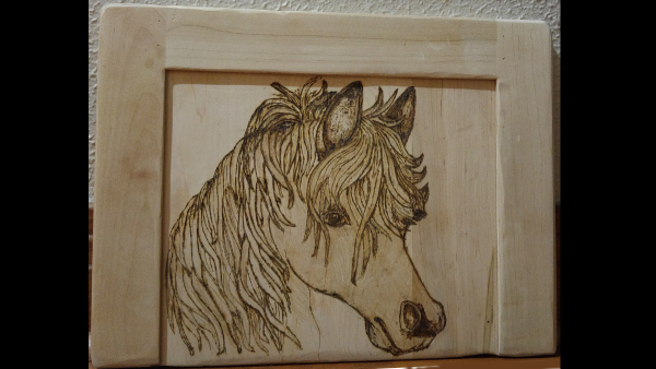 Woodworking art - Pony - by Gail Cavalier